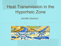 Heat Transmission in the Hyporheic Zone